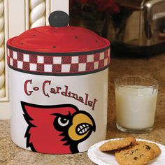 Louisville Cardinals Gameday Ceramic Cookie Jar