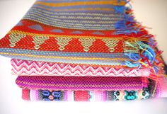 #Tribal Fabric, Peruvian #Fabric, Woven #Aztec Fabric Bundle, 4 Large Pieces