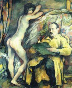 Karl Hofer, Self-Portrait with Model,1909