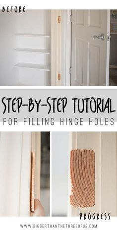 This Step By Step Tutorial Will Show You How To Fill Hinge Holes (screws,  Cutouts, Etc.).