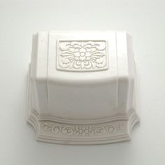 white floral ring box
