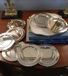 "The Sterling Saddle on Instagram: ""Nice set of 12 vintage Rogers silverplated bread plates. 6"" wide. $30 plus $9 shipping. Comment SOLD to purchase. #wmrogers #salesbysallie…"" Michael Kors Watch, Antique Silver, Bangles, Bread, Plates, Antiques, Nice, Vintage, Accessories"