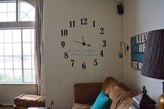RANDOM RAMBLINGS: XL Vinyl Wall Clock (a Silhouette project & tutorial)
