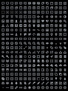 Batch: a free set of 300 icons designed for websites and UI design by Adam Whitcroft