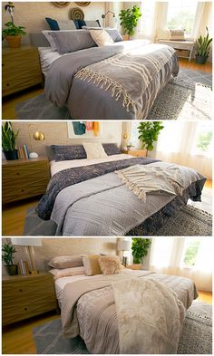 Is your bedroom style boho, modern or traditional with a twist? Good news — you can have it all. Get inspired by these three bold bedroom looks from The Home Depot. by the Home Depot. Bedroom Layouts, Bedroom Styles, Bedroom Sets, Home Decor Bedroom, Design Bedroom, Diy Bedroom, Bedrooms, Boho Room, House Rooms
