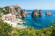 La plage de Scopello en Sicile