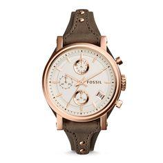 Original Boyfriend Chronograph Gray Leather Watch