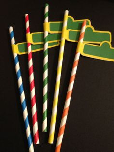 Sesame Street Party- 25 Sesame Street Sign Paper Straws- Favors, Decor, Name Tags Sesame Street Signs, Sesame Street Cake, Sesame Street Muppets, Sesame Street Birthday, Baby 1st Birthday, 1st Boy Birthday, Boy Birthday Parties, Birthday Ideas, Seasame Street Party