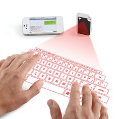 Laser display keyboard