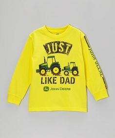 Take a look at this Yellow 'Just Like Dad' Long-Sleeve Tee - Boys by John Deere on #zulily today!