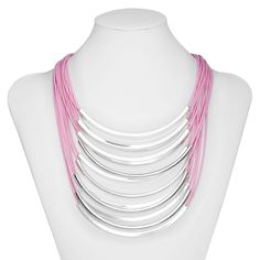 2013 Neon Multi Layer Tube Necklace Chunky Cord For Women Free Shipping-in Chain Necklaces from Jewelry on Aliexpress.com