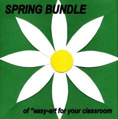"""Many """"easy-art"""" Spring projects for your classroom...teach language arts through a fun art activity. Spring is a new beginning time of the year, and so are these lessons. Fun, coloring, imagination, creativity, vocabulary development, math skills, small muscle development, group discussion, and much more come in to play in this assortment of bundled art lessons for your classrooms."""