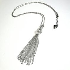 Only $9.25! - SALE Silver Long Dangling Chainlink Tassel Necklace w/Vintage Style Silver Metallic Hollow Filigree Balls, Extension Chain & Heart Bead Charm Accent FREE USA SHIPPING https://www.etsy.com/listing/341217606/sale-silver-long-dangling-chainlink  #SilverTasselNecklace #SilverChainlinkTassel #VintageMetallicSilverBeads #UniqueHeartCharm #SilverHeartBead #GlamTasselNecklace #LongSilverTassel #TasselNecklace #EtsyJewelrySale #HugeJewelrySale #EtsyJewelryShop