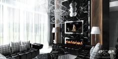 Projektowanie wnętrz luksusowej rezydencji. SO CHOCO. Więcej oryginalnych projektów wnętrz na http://www.artcoredesign.pl/