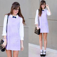 Lavender schoolgirl ♥ (by Steffy Kuncman) http://lookbook.nu/look/3097829-lavender-schoolgirl
