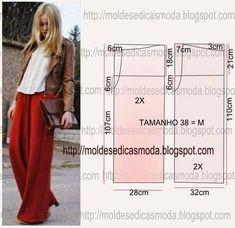 New sewing patterns free pants pjs 68 Ideas Sewing Patterns Free, Clothing Patterns, Sewing Tutorials, Dress Patterns, Sewing Diy, Diy Pantalon, Pantalon Large, Sewing Pants, Sewing Clothes