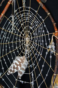 Crystal Drop Dreamcatcher... Native American by crowshadow