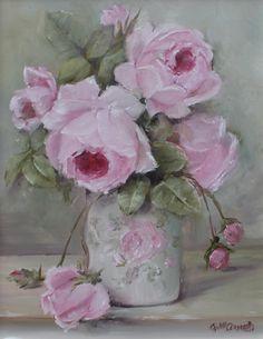 Rose Blooms, Original Painting by Gail McCormack