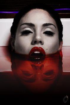 Blood bath for a Countess Bathory type