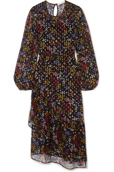 See by Chloé | Floral-print fil coupé silk-georgette midi dress | NET-A-PORTER.COM