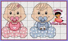 Viviane Alfêna - Gráficos e Bordados: gráfico de ponto cruz de bebê