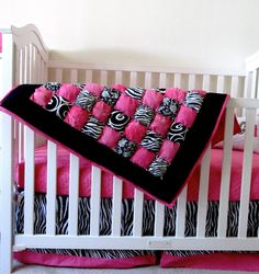 Hot Hot Hot Pink quilted blanket for nursery!