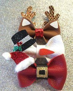 59 Likes 7 Comments Christmas Hair Bows, Noel Christmas, Diy Hair Bows, Diy Bow, Theme Noel, Diy Hair Accessories, Girls Bows, Ribbon Bows, Ribbons