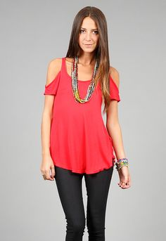 cc4e7bee769 Open Shoulder Tee in many colors Affordable Fashion, Her Style, Peace  Maker, Scoop