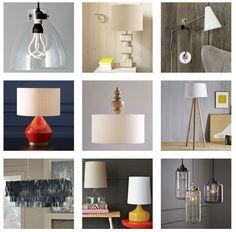 west elm lighting. LINK: http://blog.westelm.com/2012/02/08/west-elm-modern-lighting-floor-lamps-table-lamps-pendants-chandeliers/