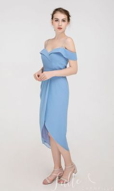Off the shoulder Midi Dress with Draped Tulip Skirt TBQP530#wedding #weddinginspiration #bridesmaids #bridesmaiddresses #bridalparty #maidofhonor #weddingideas #weddingcolors #tulleandchantilly Dress Me Up, Dress For You, How Many Bridesmaids, Off The Shoulder, Cold Shoulder Dress, Tulip Skirt, Wedding Bridesmaid Dresses, Maid Of Honor, Wedding Colors