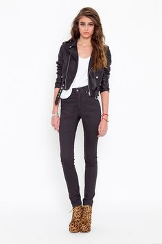 Moto Zip Crop Jacket... maybe the cheetah shoes ;)