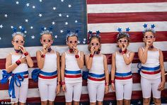 Stars in the making: A kazoo band play during the parade in Mount Pleasant, South Carolina.