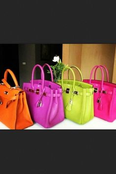 Hermes Berkin Bag - I GOTTA HAVE !  I think I need one of each. Love the colors !