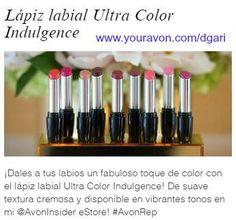 http://production.socialmediacenter.avonsocialtools.com/share?m=165&p=39f68584adf0985b9ac5a0274b811a8c&s=rep&srct=share&srci=5055 ¡Dales a tus labios un fabuloso toque de color con el lápiz labial Ultra Color Indulgence! #lipstick #makeup #avon