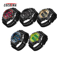 >> Click to Buy << COCOTINA Mens Stainless Steel Led Digital Date Alarm Waterproof Life Sports Army Quartz Watch Students Outdoor Electronic Watch #Affiliate