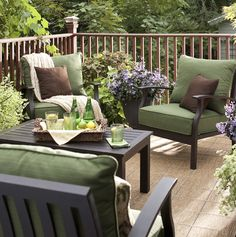 10 Re-Deck-Orating Ideas from @Lowes - I took several of these ideas for my own porch.