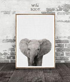 Infantiles decoración impresión de elefante bebé bebé Animal