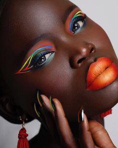 Makeup Inspo, Makeup Art, Makeup Inspiration, Foundation Contouring, Rainbow Makeup, Dark Skin Makeup, Creative Makeup Looks, Airbrush Makeup, Temptu Airbrush