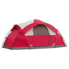 Dome Tent Waterproof Floor Cimmaron 8 Person Hiking Red Canyon Weathertec System #Tents
