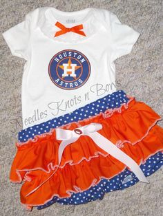 Houston Astro's, Also available in all Baseball teams and other leagues, come check it out: http://needlesknotnbows.storenvy.com/