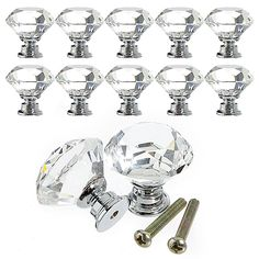 New Designed 10Pcs 30mm Diamond Crystal Glass Alloy Door Drawer Cabinet Wardrobe Pull Handle Knobs  1PWU 1V97 6DWV-in Handles & Knobs from Home Improvement on Aliexpress.com | Alibaba Group