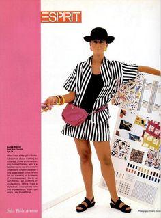 Esprit magazine ad, 1985