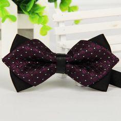 fb2b4d792e44 @thetieguys Burgundy Stylish Bow Tie Bowties, Fashion Men, Butch Fashion,  Formal Fashion