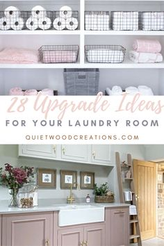 Upgrading your laundry room is not only a fun project, but a great opportunity to declutter, to get creative and to add some personal style to another part of your home. That's why we've put together these decorating ideas to help you upgrade your laundry room #laundryroom #utilityroom #homedecor Custom Wooden Signs, Faux Stained Glass, Laundry Room Design, Wood Creations, Rustic Kitchen, Declutter, Opportunity, Personal Style, Decorating Ideas
