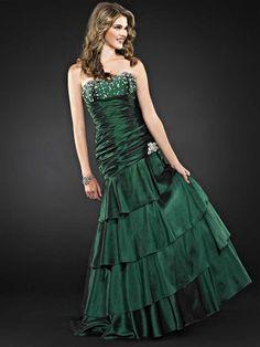 Trumpet/Mermaid Sweetheart Taffeta Floor-length Sleeveless Beading Prom Dresses at pickedlooks.com