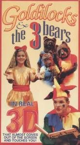 """Thrifty Film Review #26: """"Goldilocks and the 3 Bears in Real 3D"""" http://www.thriftyfilmcritic.com/?p=87  An acid trip worth watching in 3D. This video doesn't make any sense and the 3D glasses are just clear frames. The entire movie is utterly insane and is definitely worth checking out. $1/$5"""