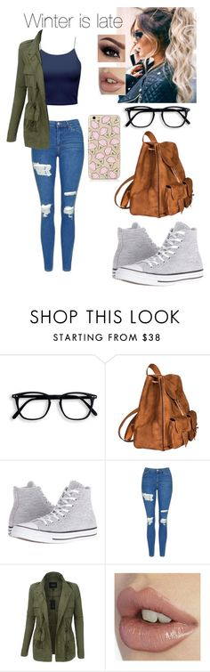 """Untitled #297"" by minamihd ❤ liked on Polyvore featuring Yves Saint Laurent, Converse, Topshop and LE3NO"