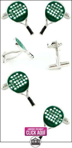 MasGemelos - Gemelos Raqueta de Padel Verde Cufflinks  ✿ Joyas para niños - Regalos ✿ ▬► Ver oferta: http://comprar.io/goto/B01FPXKZYC