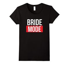 Women's Bride Mode On Gym Workout Wedding T-Shirt XL Black