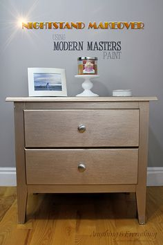 Quick Nightstand Makeover Using Modern Masters Paint